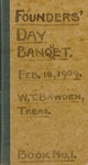 1909 Founder's Day Banquet Book No.1