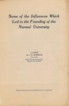 1909 Some of the Influences Which Led to the Founding of the Normal University by J. H. Burnham