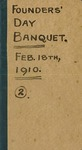 1910 Founder's Day Banquet Book No.2 by W. T. Bawden