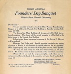 1911 Founder's Day Banquet Invitation by Illinois State University