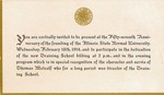 1914 Founder's Day Invitation by Illinois State University
