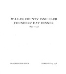 1946 Founder's Day Dinner Program by Illinois State University