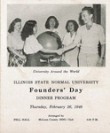 1948 Founder's Day Dinner Program by Illinois State University