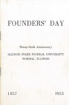 1953 Founder's Day Dinner Program by Illinois State University