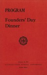 1956 Founder's Day Dinner Program by Illinois State University