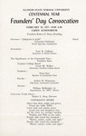 1957 Founder's Day Convocation Program by Illinois State University