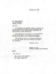 1957 Founder's Day Letters of Correspondence