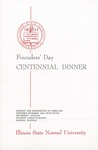 1957 Founder's Day Dinner Program by Illinois State University