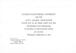 1960 Founder's Day Evening Invitation and Program by Illinois State University
