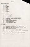 1960 Founder's Day Planning Documents Event Outline