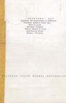 1961 Founder's Day Planning Document Program of Events Draft