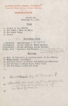 1961 Founder's Day Planning Document Seminar Outlines