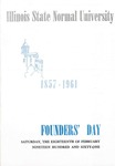 1961 Founder's Day Symposium and Luncheon Program by Illinois State University
