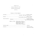 1962 Founder's Day Planning Document Event Outline by Illinois State University