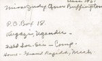 1962 Founder's Day Planning Document Speaker Info