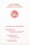 1982 Founder's Day Dinner Menu by Illinois State University