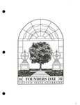 1995 Founder's Day Ephemera Logo by Illinois State University