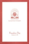 1995 Founder's Day Program of Events by Illinois State University