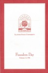 1996 Founder's Day Program of Events by Illinois State University