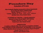 1997 Founder's Day Program of Events by Illinois State University