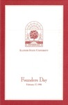 1998 Founder's Day Program of Events by Illinois State University