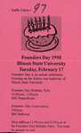 1998 Founder's Day Tickets by Illinois State University