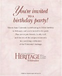 1999 Founder's Day Heritage Celebration Invitations by Illinois State University