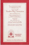 2000 Founder's Day Convocation Invitations