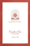 2001 Founder's Day Program of Events by Illinois State University