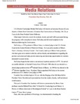 2003 Founder's Day News Releases by Illinois State University