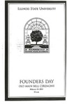 2004 Founder's Day Bell Ringing Info by Illinois State University