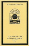 2004 Founder's Day Program of Events by Illinois State University
