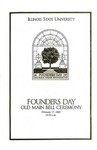 2005 Founder's Day Bell Ringing Info by Illinois State University