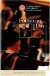 2010 Founder's Day Convocation Program by Illinois State University