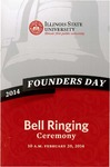 2014 Founder's Day Bell Ringing Ceremony Program by Illinois State University