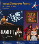2016 Illinois Shakespeare Festival Program by School of Theatre and Dance