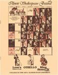 1982 Illinois Shakespeare Festival Program