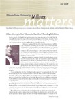 Milner Matters Fall 2008 by Milner Library
