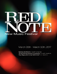 Red Note New Music Festival Program, 2017 by School of Music