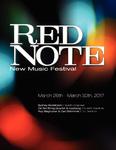 Red Note New Music Festival Program, 2017
