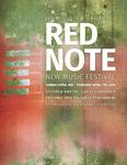 Red Note New Music Festival Program, 2016