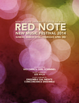 Red Note New Music Festival Program, 2014 by School of Music