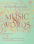 Red Note New Music Festival Program, 2012 by School of Music