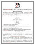 Red Note New Music Festival Composition Competition Announcement, 2012 by School of Music and Carl Schimmel