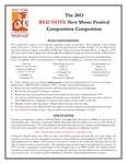 Red Note New Music Festival Composition Competition Announcement, 2013 by School of Music and Carl Schimmel