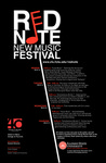 Red Note New Music Festival Poster, 2011 by School of Music and Carl Schimmel