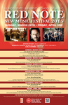 Red Note New Music Festival Poster, 2015 by School of Music and Carl Schimmel