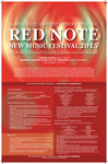 Red Note New Music Festival Composition Competition Announcement, 2015 by School of Music and Carl Schimmel
