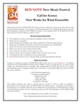 Red Note New Music Festival Composition Competition (Wind Ensemble) Announcement, 2013