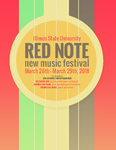 Red Note New Music Festival Program, 2018 by School of Music,